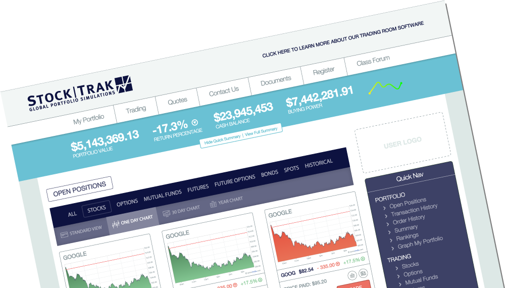 StockTrak stock game - stock market games - virtual stock